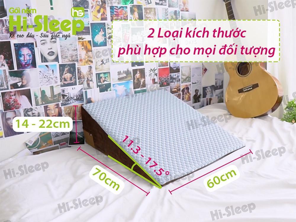 Kích thước của gối chống trào ngược dạ dày Hi-Sleep