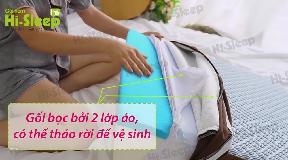 Vải vỏ gối chất liệu jacquard D400 cao cấp dùng trong các khách sạn từ 3 sao, thoáng mát, thấm hút tốt, sang trọng.